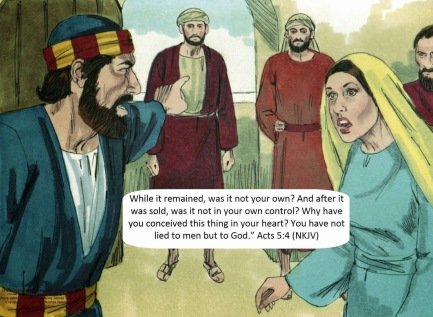 Image result for picture of Ananias and Sapphira